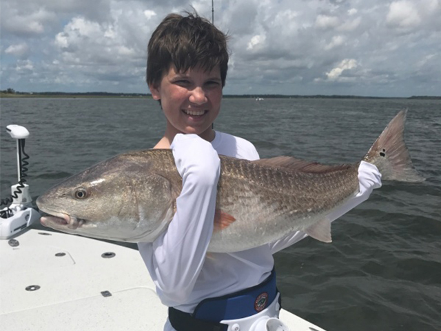 Charter Fishing Fernandina Beach nets a Redfish