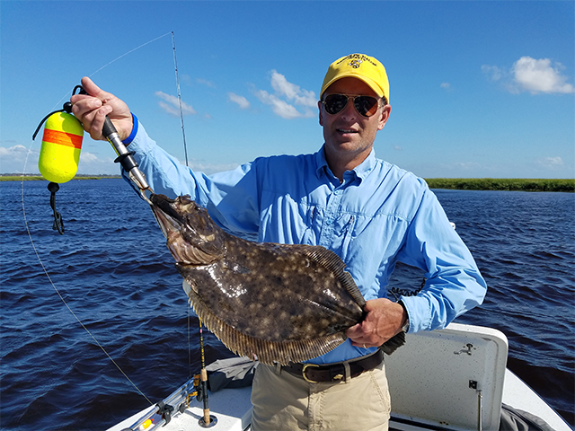 Flounder Caught Backwater Fishing Amelia Island. Join the fun with Semper Fi Charters.